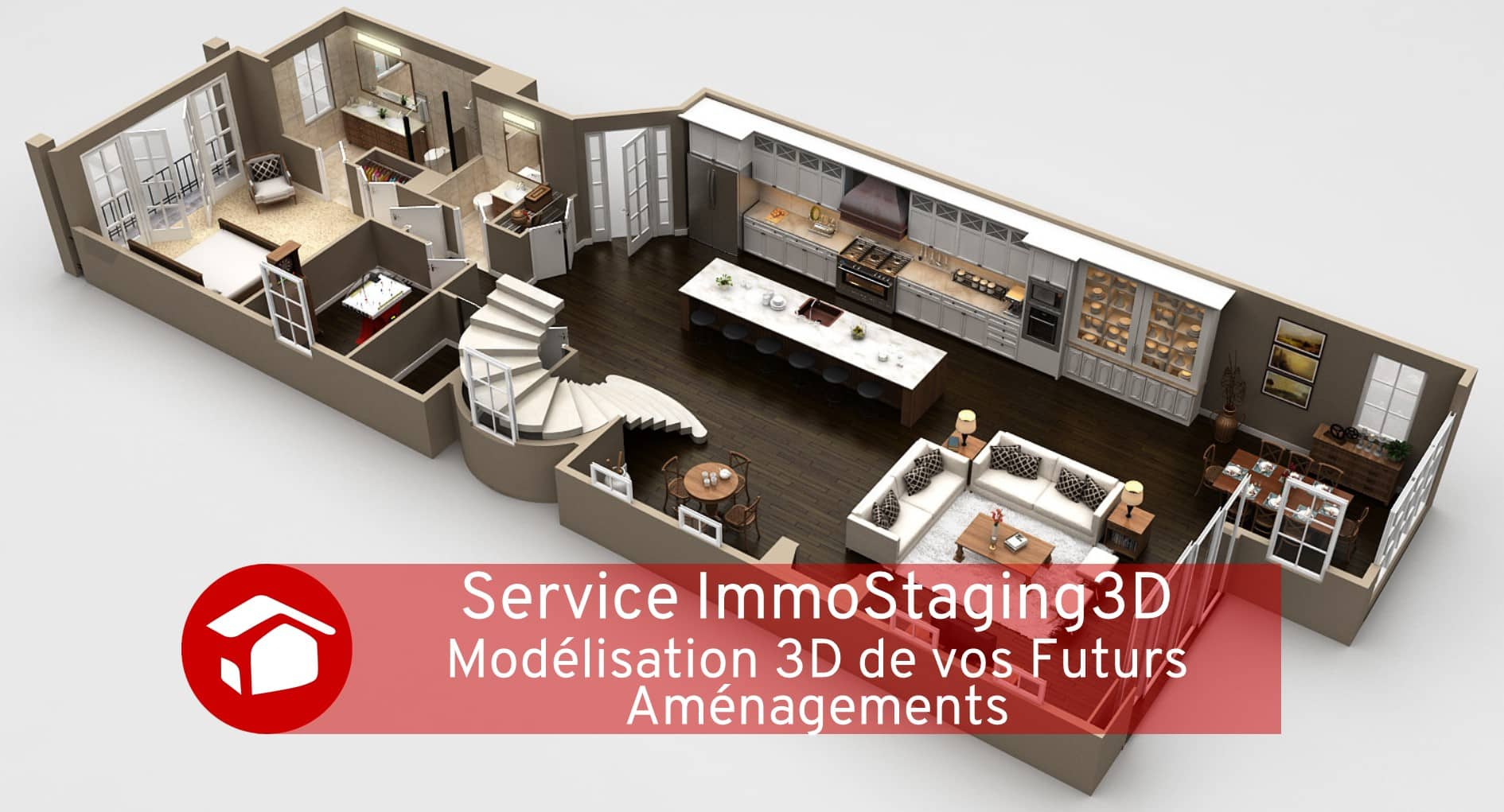 Service ImmoStaging3D Courtier Travaux Meilleur Projet