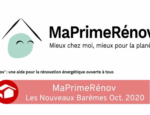 MaPrimeRénov les Nouveaux Barèmes de Oct. 2020